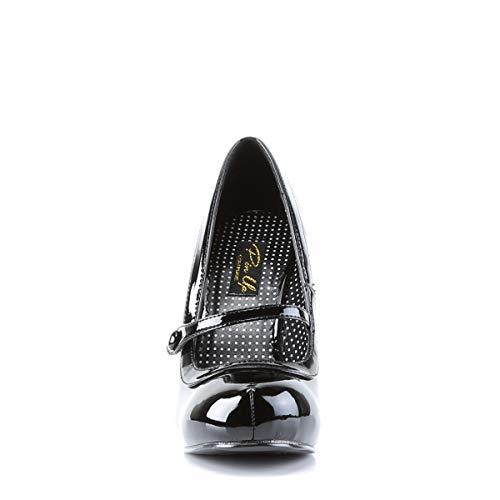 Pleaser PinUp Couture CUTIEPIE-02 Damen Pumps, Schwarz (Blk pat), EU 37 (UK 4) (US 7) - 2