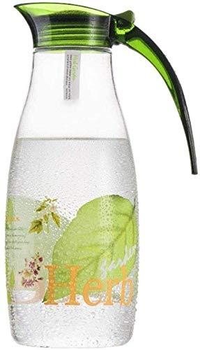 Jugs Cool Kettle Diseño de gran capacidad de diseño de agua fría Botella de agua de plástico Pote de cocina Suministros de vajilla de cocina 1200ml resistente al calor (color: verde, Tamaño: 10 * 25cm