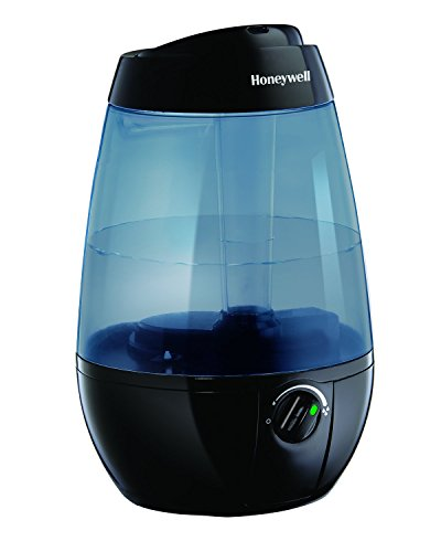 Honeywell HUL535BC Ultrasonic Cool Mist Humidifier, Black, with Variable Output Control, Auto Shut-off, Ultra Quiet Operation, Directional Mist Outlet, Cool Visible Mist