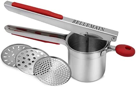 Top Rated Bellemain Stainless Steel Potato Ricer with 3 Interchangeable Fineness Discs product image