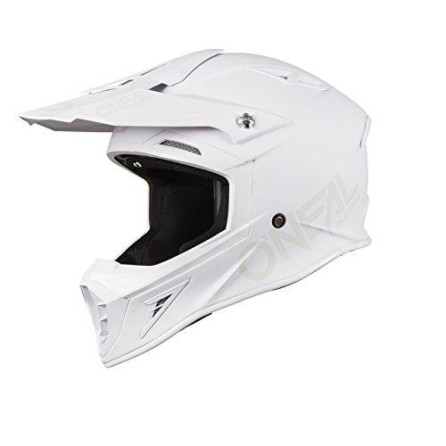O'Neal unisex-adult off-road style 10 SRS Helmet Flat White XXL