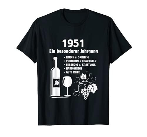 Geburtstag Geschenk Wein Vintage - Besonderer Jahrgang 1951 T-Shirt