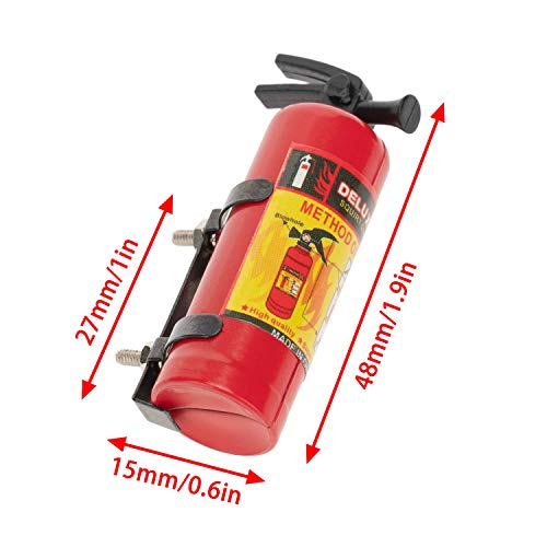 JVSISM 5Pcs RC Car Simulated Decorations Ladder Extinguisher Jack for 1/10 RC Crawler TRX4 Axial SCX10 90046 AXI03007,C