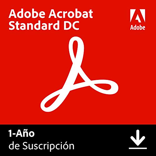 Adobe Acrobat DC   Standard   1 Año   PC   Código de activación PC enviado por email