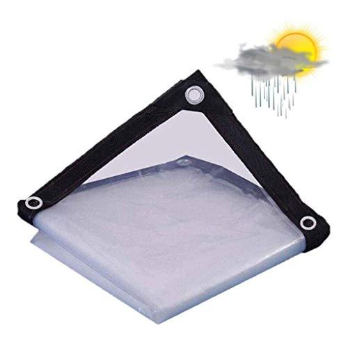 QI-CHE-YI Tarps Transparent Persenning Edging Perforierte Isolierung Tuch Fenster aus Kunststoff Stoff Balkon Markise Gewächshaus Film,4x7m