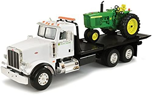 Ertl Big Farm 1 16 Peterbilt Model 367 Dealership Delivery Truck With Roll Off And 4020 Tractor by ERTL