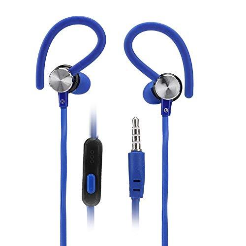 IGKE Auriculares Deportivos con Cable, Auriculares, Auriculares, para Oficina, para Deportes, para el hogar,(Blue)