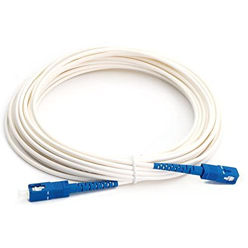 光ファイバーケーブル 宅内光配線コード 光ケーブル線 SC-SCコネクタ (ホワイト, 3m)