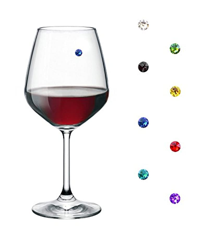 Magnetic Wine Charms - Drink Markers for Wine Glasses and any other Glass or Drinkware (8)