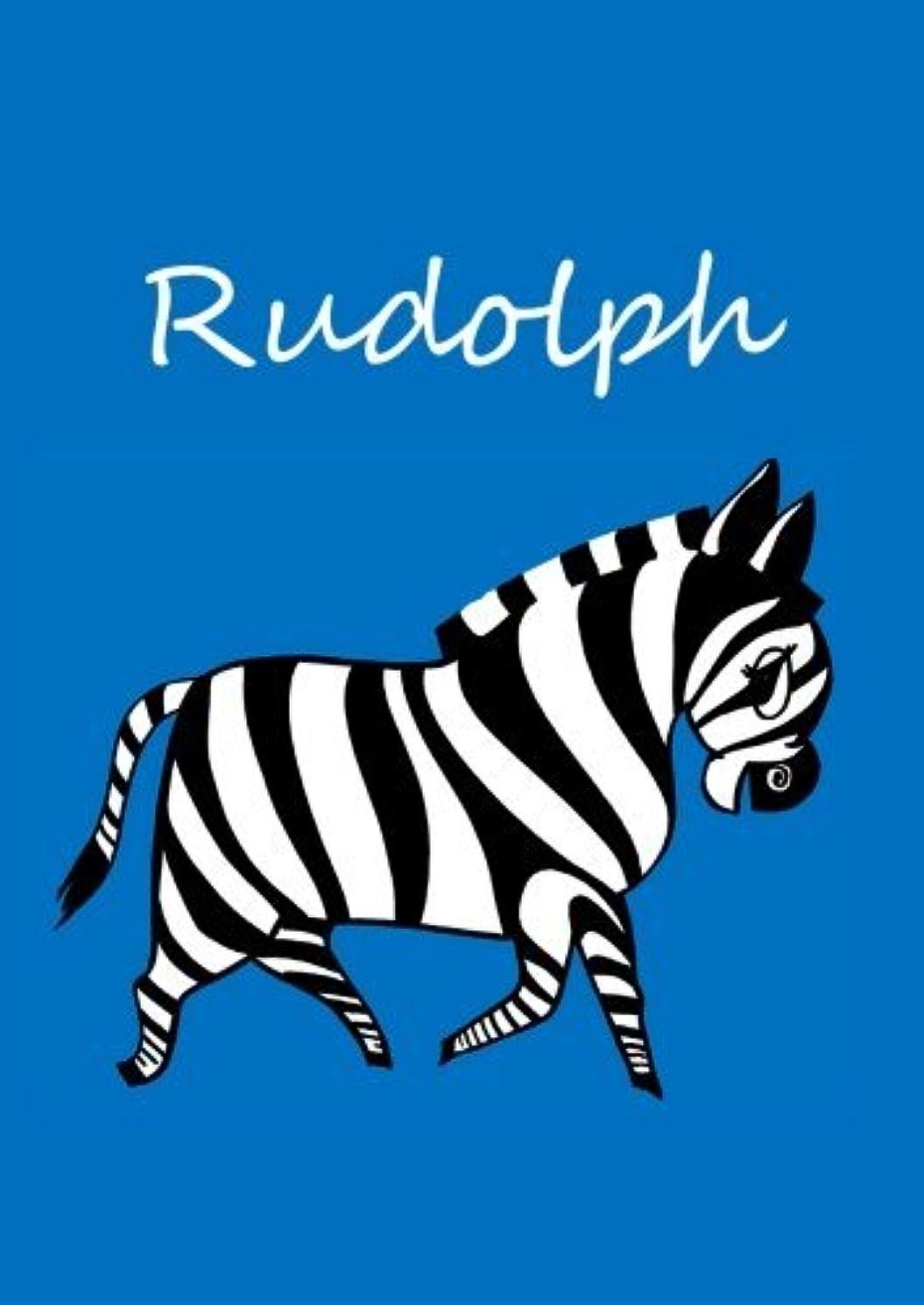 ボクシング製造懐疑論Rudolph: individualisiertes Malbuch / Notizbuch / Tagebuch - Zebra - A4 - blanko