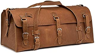Beast Leather Duffel Bag Extra Large Overnight Travel Bag Includes 100 Year Warranty