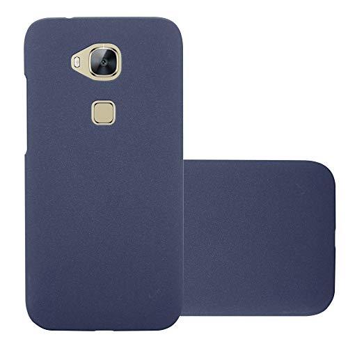 Cadorabo Hülle für Huawei G7 Plus / G8 / GX8 in Frosty BLAU – Hardcase Handyhülle aus Plastik gegen Kratzer und Stöße – Schutzhülle Bumper Ultra Slim Back Case Hard Cover