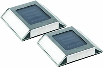 2-Pack Nature Power Solar Powered LED Stainless Steel Pathway Lights