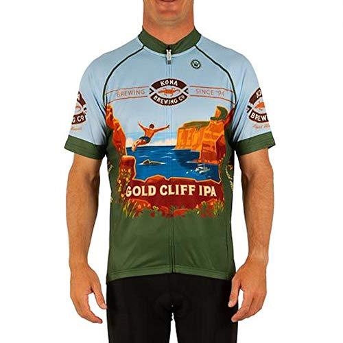 CANARI Men's Souvenir Cycling/Biking Jersey, KBC Gold Cliff IPA, X-Large