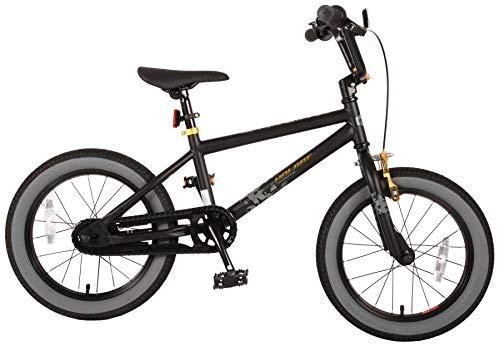 Bici Bicicletta Bambino 16 Pollici Cool Rider Freno Anteriore sul Manubrio e Posteriore Contropedale Nero 95% assemblata
