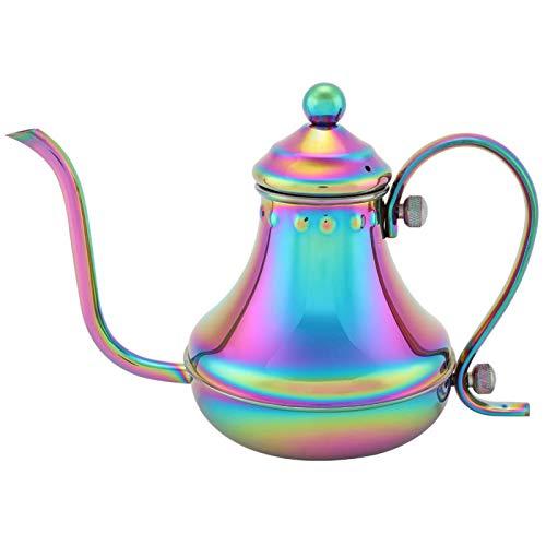 YUUGA Cafetera de Mano, Tetera de café elaborada a Mano, cafetera de Goteo Manual, cafetera de Acero Inoxidable de Color mágico