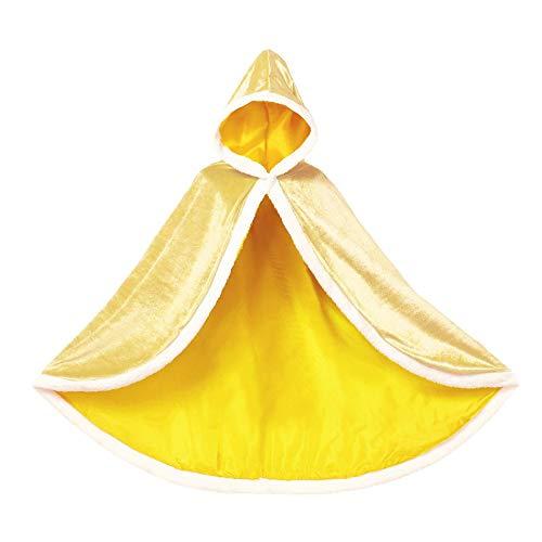 Capucha 6 colores Cuervos clidos Chicas Capa con capucha Capucha Peluche Partido Disfraz Accesorio Accesorio Rapunzel Cabo Abrigo Outwear Largo Capa con Capucha ( Color : Yellow , Size : 3T )
