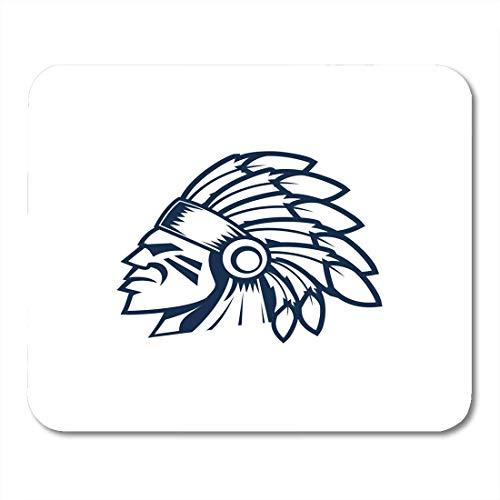 Mauspads Schöne Erwachsene Indian Chief Head Native Maskottchen American Apache Mouse Pad für Notebooks, Desktop-Computer Matten Büromaterial