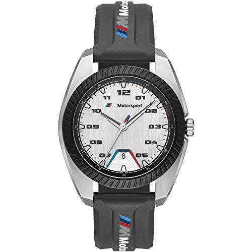 BMW BMW1001 M Motorsport Uhr Herrenuhr Kautschuk Edelstahl 5 bar Datum schwarz