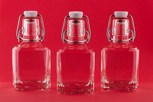8 x leere Glasflaschen 200 ml mit Bügel-Verschluss Bügel-Flaschen Bügelflasche Smoothie Flasche 0,2 Liter l 20 cl Schnapsflaschen Bügelverschlussflasche Nr 250ML von slkfactory
