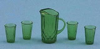 Melody Jane Dollhouse Emerald Green Jug & Glasses Set Chrysnbon Accessory