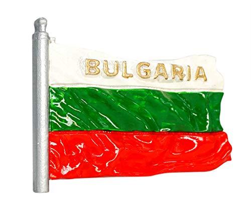 zamonji Bulgarien Flagge Kühlschrank Kühlschrankmagnet 3D Harz Magnete Länder Fahne Reise Aufkleber Tourist Geschenk Home & Küche Dekoration