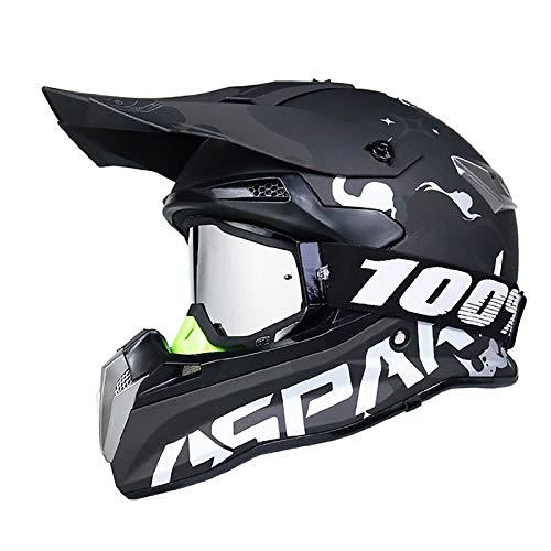 Casco Motocross Casco de Moto con Gafas,Casco de Motocross Enduro Downhill para Hombre Mujer Full Face MTB Casco,para Ciclomotor ATV Mountain Bike,Certificación ECE H,M=55~56cm