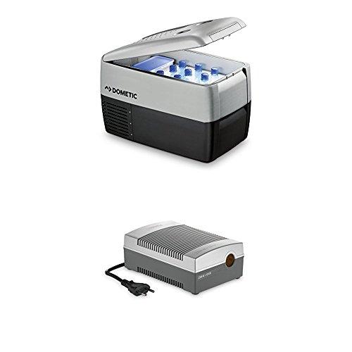 Dometic Waeco CoolFreeze CDF 36 - tragbare elektrische Kompressor-Kühlbox/Gefrierbox mit Batteriewächter, 31 Liter, 12/24 V für Auto, Lkw oder Boot + CoolPower EPS817 Netzadapter, 230 V 12 V