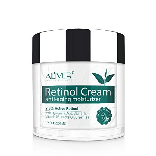 Crema Facial Retinol,IFUDOIT Crema Hidratante Retinol,Crema Antiarrugas Noche/Día para Rostro y Ojos,con 2.5% de Retinol, Hialurónico,Vitamina E y Aceite de Jojoba