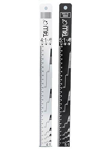 T4W Aluminium Farbmischstab 4:1/5:1