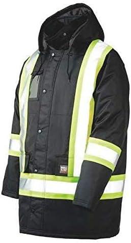 Men's Black Polyester Jacket size 2XL