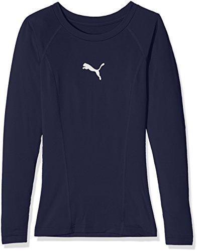 PUMA Kinder Liga Baselayer Tee LS Jr Shirt, Blau (Peacoat), 164