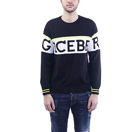 Luxury Fashion | Iceberg Heren A00576040003 Zwart Katoen Truien | Lente-zomer 20