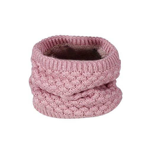 BESTOYARD Collo Sciarpa Donna inverno maglia Cercio Crochet sciarpa scialle copricollo scaldacollo (Rosa)