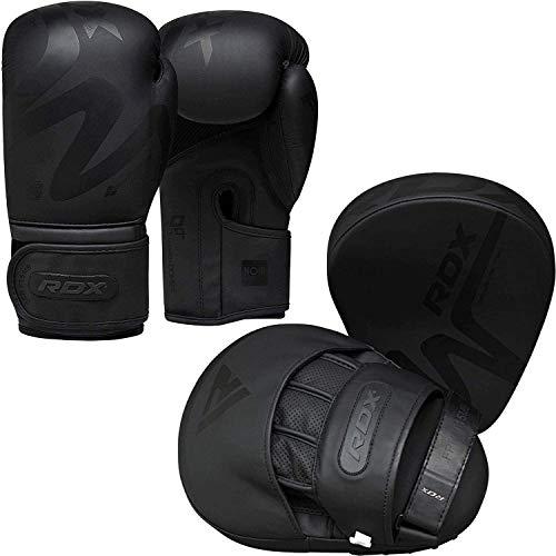 RDX Manoplas de Boxeo y Guantes Entrenamiento Muay Thai Paos Saco MMA Kick Boxing Almohadilla Gancho y Jab Pad Artes Marciales Escudo Patada Focus Pads