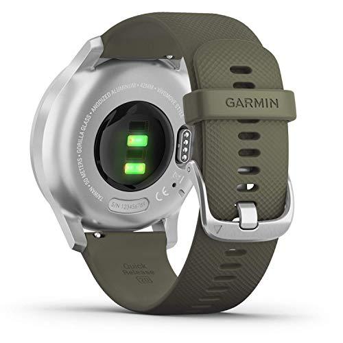 Garmin vívomove Style – stilvolle Hybrid-Smartwatch mit 2 brillanten AMOLED-Farbdisplays, Sport-Apps und Fitness-/Gesundheitsdaten, wasserdicht, 5 Tage Akkulaufzeit, Fitness Tracker, connected-GPS - 3