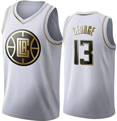 WSUN Camiseta De La NBA para Hombre, Camiseta De Baloncesto LA Clippers 13# Paul George, Camiseta Fresca Y Transpirable para Aficionados Al Baloncesto Swingman,B,S(165~170CM/50~65KG)