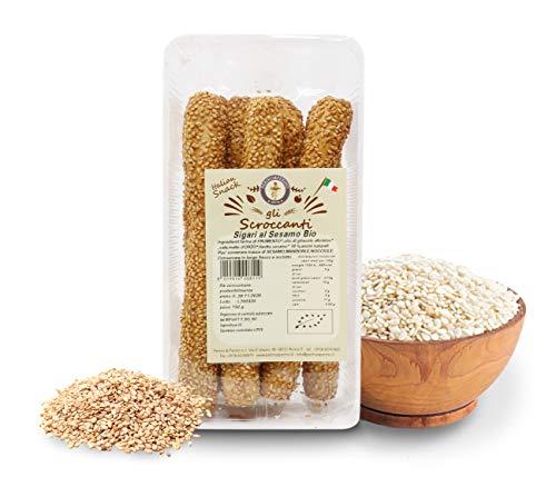 Carioni Food & Health Rosquilletas o colines de Pan con sésamo - 150 gr (Paquete de 12 Piezas)