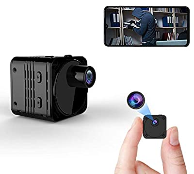 FRCAMI Upgraded FHD 4K Mini Camera Wireless Hidden WiFi Small Spy Nanny Cam with Night Vision Motion Detection Remote Viewing Phone APP Mini Video Recorder for Home Indoor Car Security
