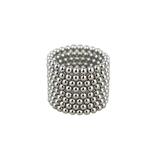Innumerevoli varianti: 100 sfere magnetiche da 5 mm per lavagne magnetiche, frigorifero, verde, 5 mm (argento)