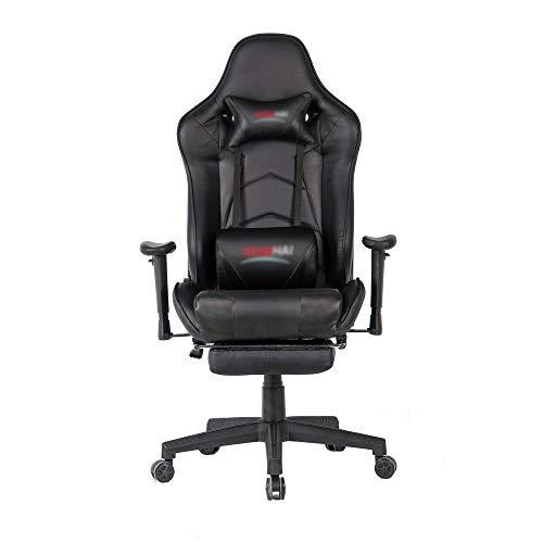 Verstelbare taille armleuning stoel spel stoel racen bureaustoel computer tafel en stoel spel stoel met telescopische voetsteun bureaustoel