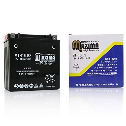 マキシマバッテリー MTH16-BS シールド式 ロードサービス付き バイク用 16-BS ゼファー1100 ZEPHYR1100 ゼファー1100RS ZEPHYR1100RS