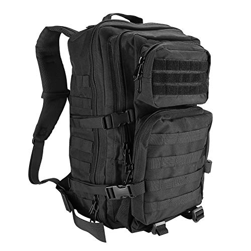 ProCase Military Tactical Assault Backpack Rucksacks, 40L Large Capacity MOLLE Army Pack Bag Go Bag, for Hiking Trekking Camping Travelling Climbing and Other Outdoor Activities –Black