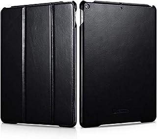 جراب جلد iCarer لجهاز iPad Air 3 10.5 بوصة 2019، جراب قلاب بنمط كلاسيكي مصنوع من الجلد الطبيعي 100% قابل للطي ثلاثي الطي م...