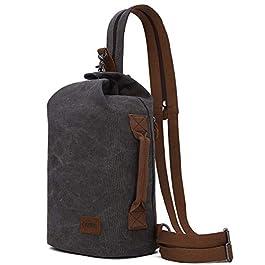 Sac à bandoulière en toile – Petit sac à dos à bandoulière Sac à dos décontracté à bandoulière pour hommes Femmes…