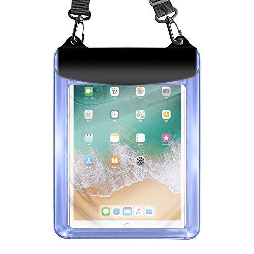 Universal Tablet Waterproof Case Pouch Dry Bag for iPad 10.2 / 9.7, iPad Pro 11 / 10.5, iPad Air, Samsung Galaxy Tab, Surface Go, Lenovo Dragon Touch Fusion5 Asus Vankyo MatrixPad Simbans LG (Blue)