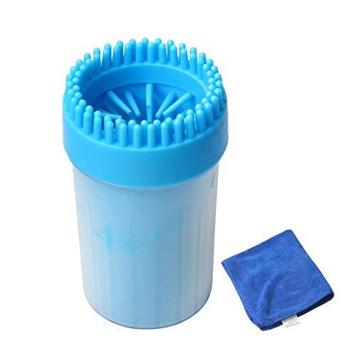 Kitchnexus - Limpiador de patas de perros, de silicona, cepillo de limpieza para mascotas, con una toalla