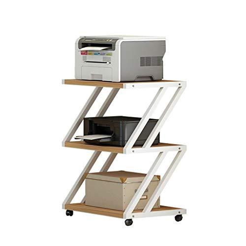 Soportes para impresoras Soporte de impresora de múltiples capas, estante lateral de marco de metal, escritorio de impresora móvil, usado en la sala de estar de oficina Máquina de fax Soporte de escán