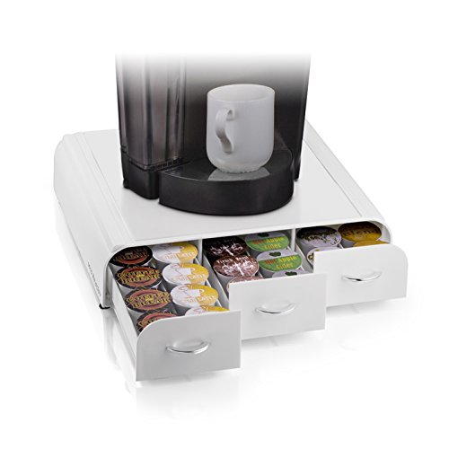 Mind Reader Anchor Coffee Pod Drawer, 12.87 x 13.46 x 3.25, White