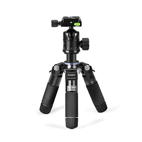 """Fotopro Tragbaret Tisch Mini Stativ, 18"""" Kamera Stative Aluminium Leichtes Reisestativ mit Kugelkopf, 1/4 Schnellwechselplatte, Dreibeinstativ für Kamera, DSLR, Video Camcorder bis zu 8 Kilogramm"""